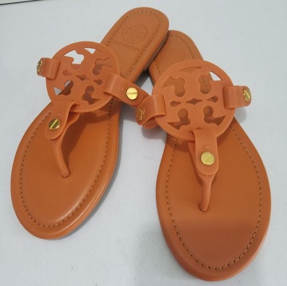 43dd88a44 Tory Burch Jelly Miller Sandals Coral Orange 8. M 5c773721aaa5b81dd9456a0d